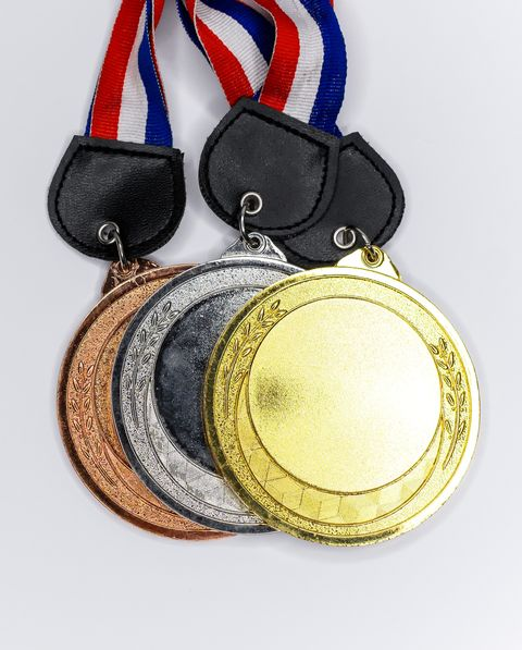 Medals on White Background
