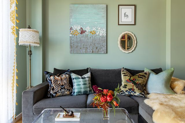 green sitting room
