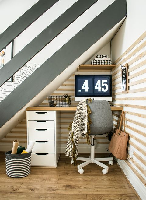 medina, grillodesigns   study area under stairs