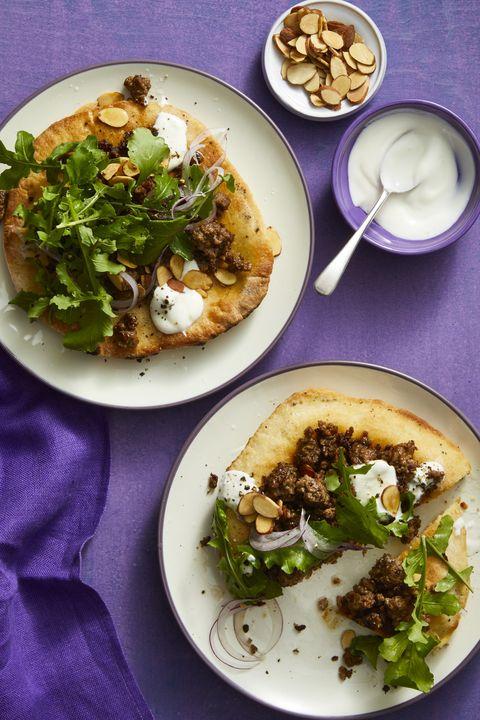 light dinner ideas -Mediterranean Pita Pizzas 30-Minute Meal