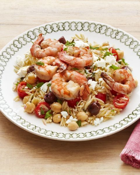 mediterranean orzo with shrimp