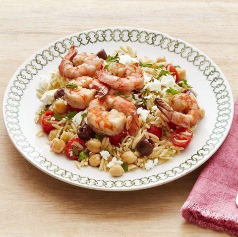 mediterranean orzo with shrimp