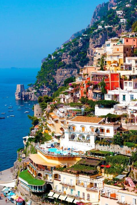 Town, Coast, Human settlement, Tourism, Sea, City, Village, Azure, Sky, Urban area,