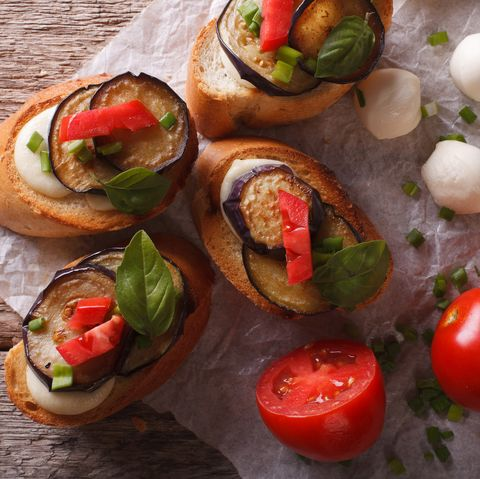 Mediterranean Vegetable Crostini