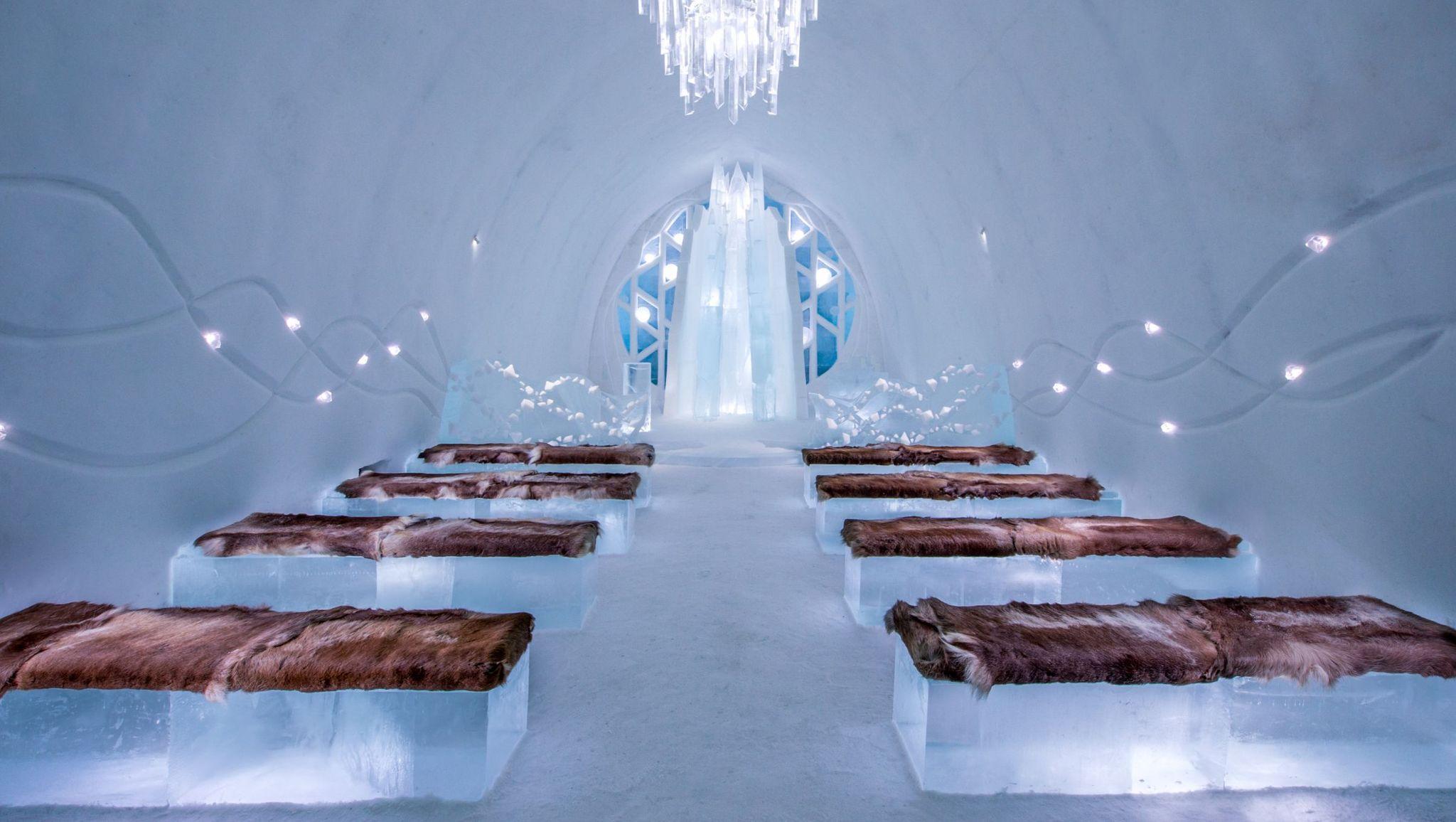 Una notte all'ice hotel è l'esperienza più hot dell'inverno, e questi sono i più belli del mondo