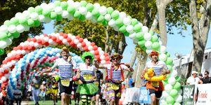 Runners at the Médoc Marathon.