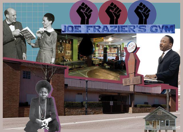 joe frazier's gym, martin luther king jr, nina simone house