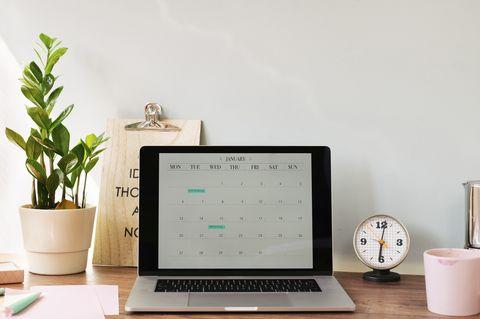 laptop open on desk
