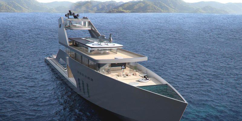 Design scandinavo per il mega yacht con giardino firmato Hareide