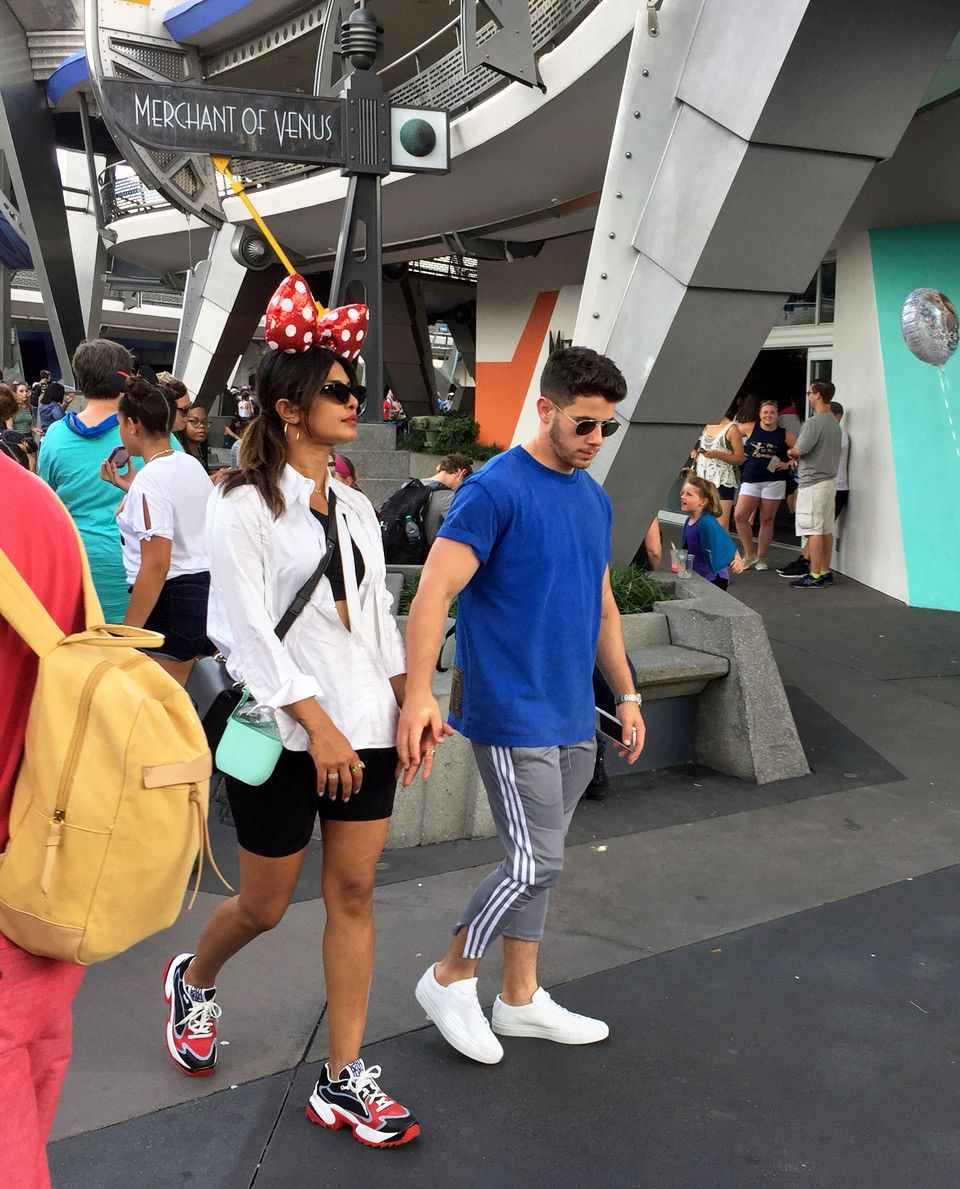 Priyanka Chopra and Nick Jonas Went on a Disney World Date in Athleisure