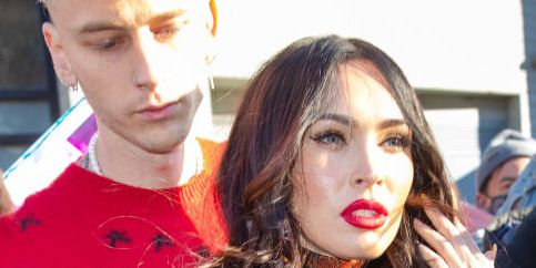 Megan Fox and Machine Gun Kelly Were Photographed Showing the Most PDA Outside of 'SNL'