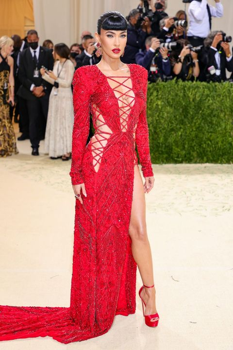 new york, new york   september 13 megan fox attends the 2021 met gala celebrating in america a lexicon of fashion at metropolitan museum of art on september 13, 2021 in new york city photo by theo wargogetty images