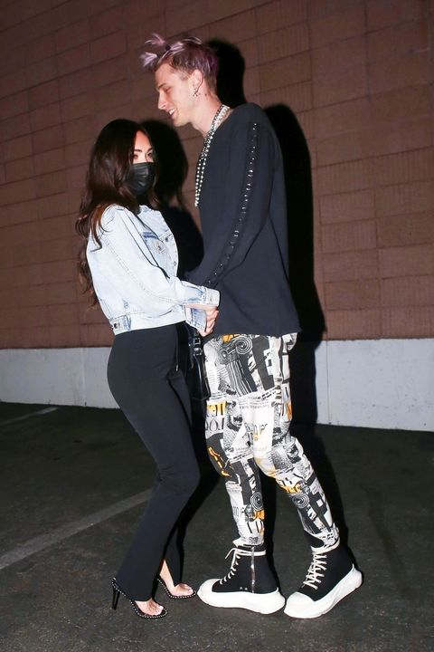 megan fox and machine gun kelly out in la on march 1, 2021