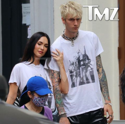 megan fox and machine gun kelly in the same outfit
