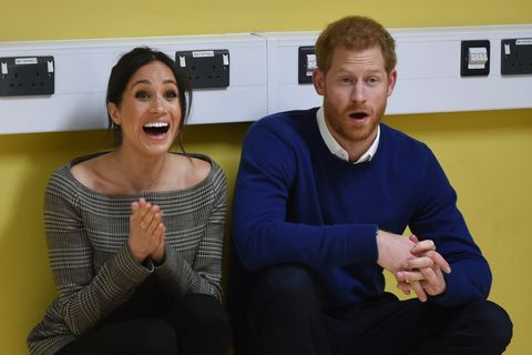 Harry and Meghan visit Cardiff Castle