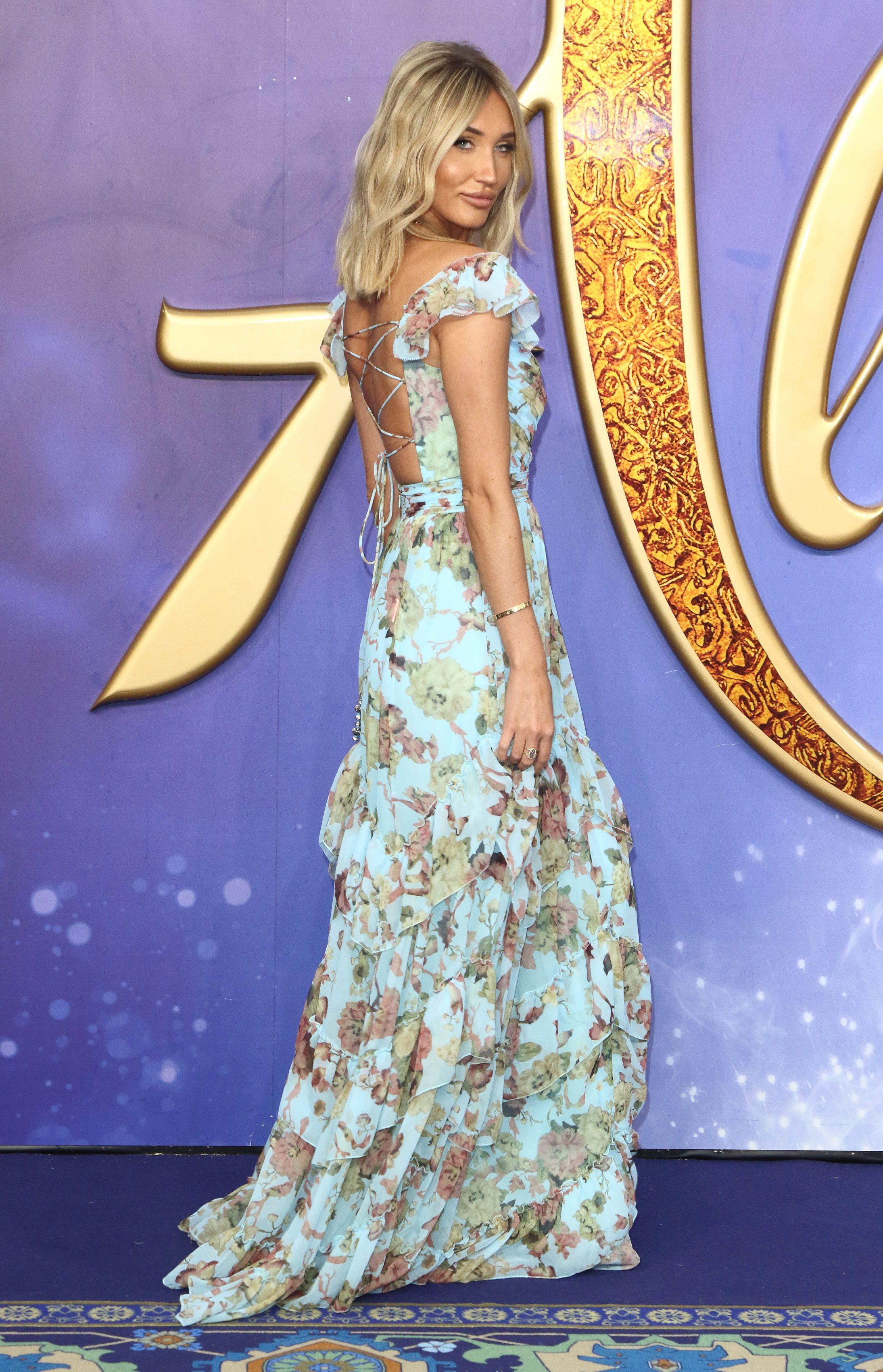 Megan McKenna, Disney's Aladdin movie premiere in London