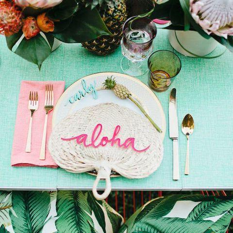 Green, Leaf, Illustration, Textile, Table, Tableware, Calligraphy, Napkin, Linens, Paper,