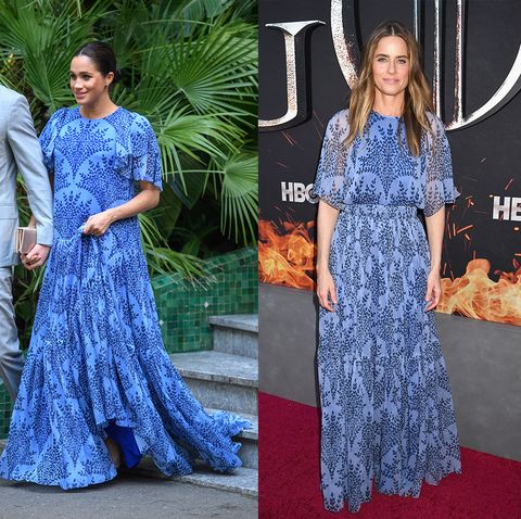 celebrities who dressed exactly like royals   meghan markle and amanda peet