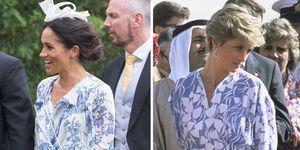 Meghan Markle and Princess Diana