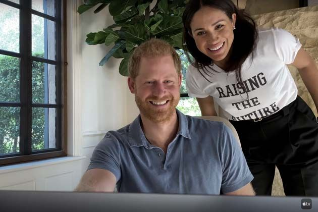 Meghan shows off her WFH uniform in new clip