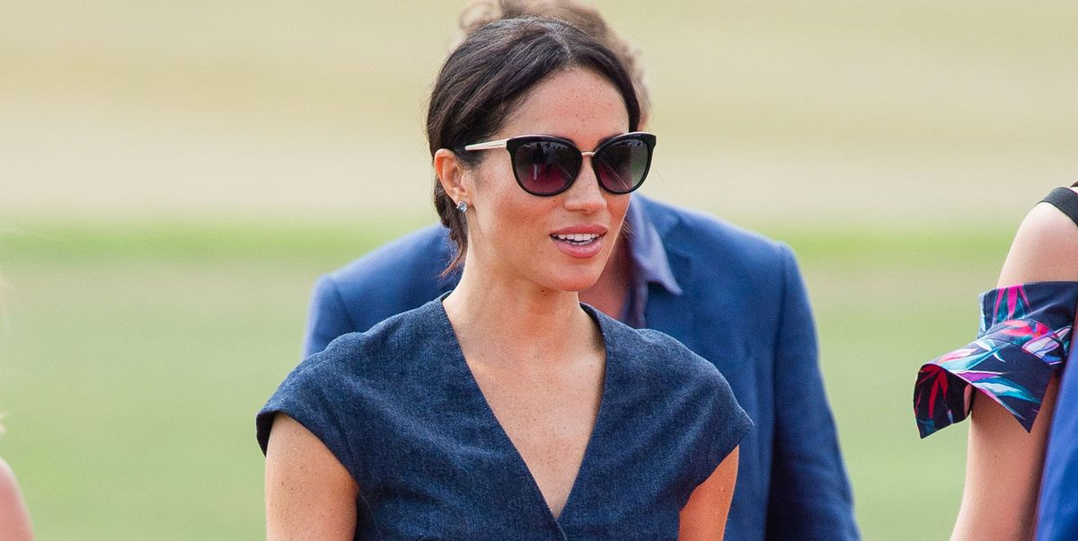 2f06dcba5f5 Meghan Markle wears Carolina Herrera for the polo – Harry and Meghan at the  polo in Windsor
