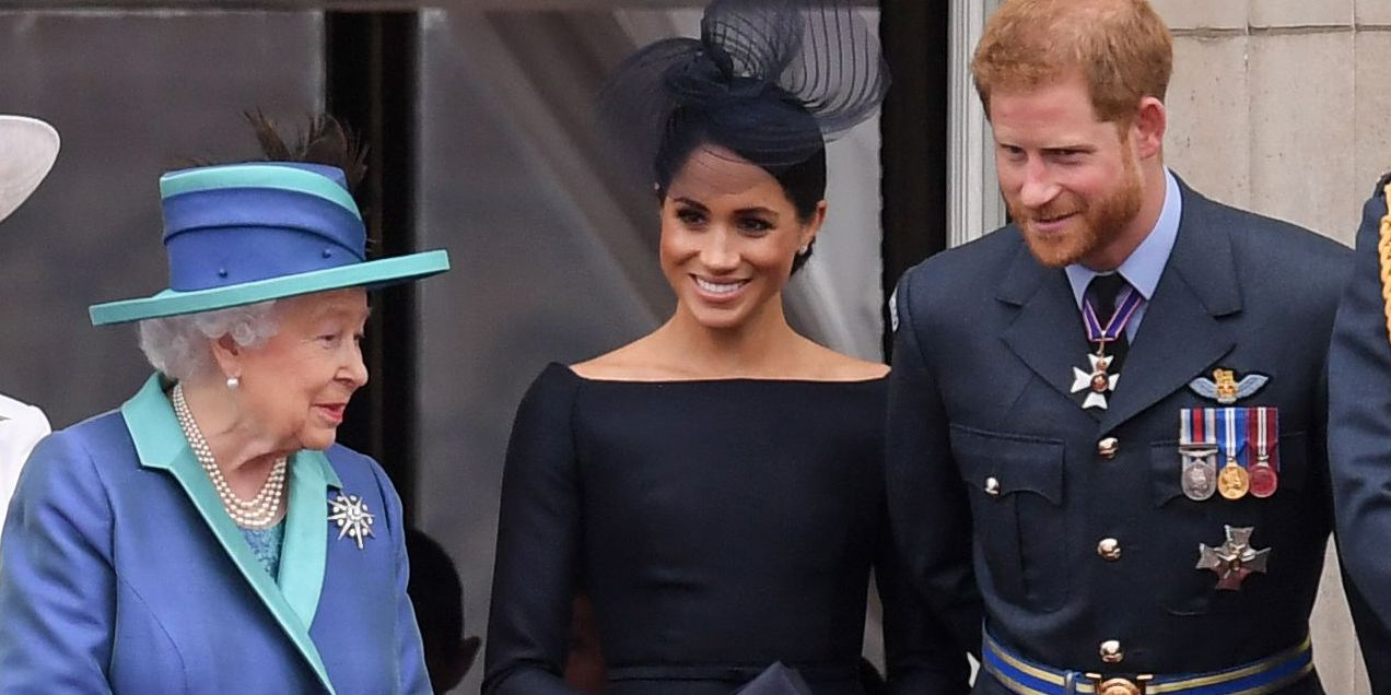 Harry and Meghan on the balcony