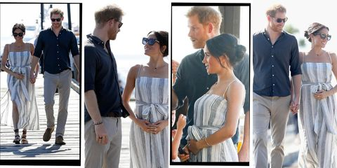 0e5126d853035 Meghan Markle Can't Stop Cradling Her Baby Bump During Tour Of ...