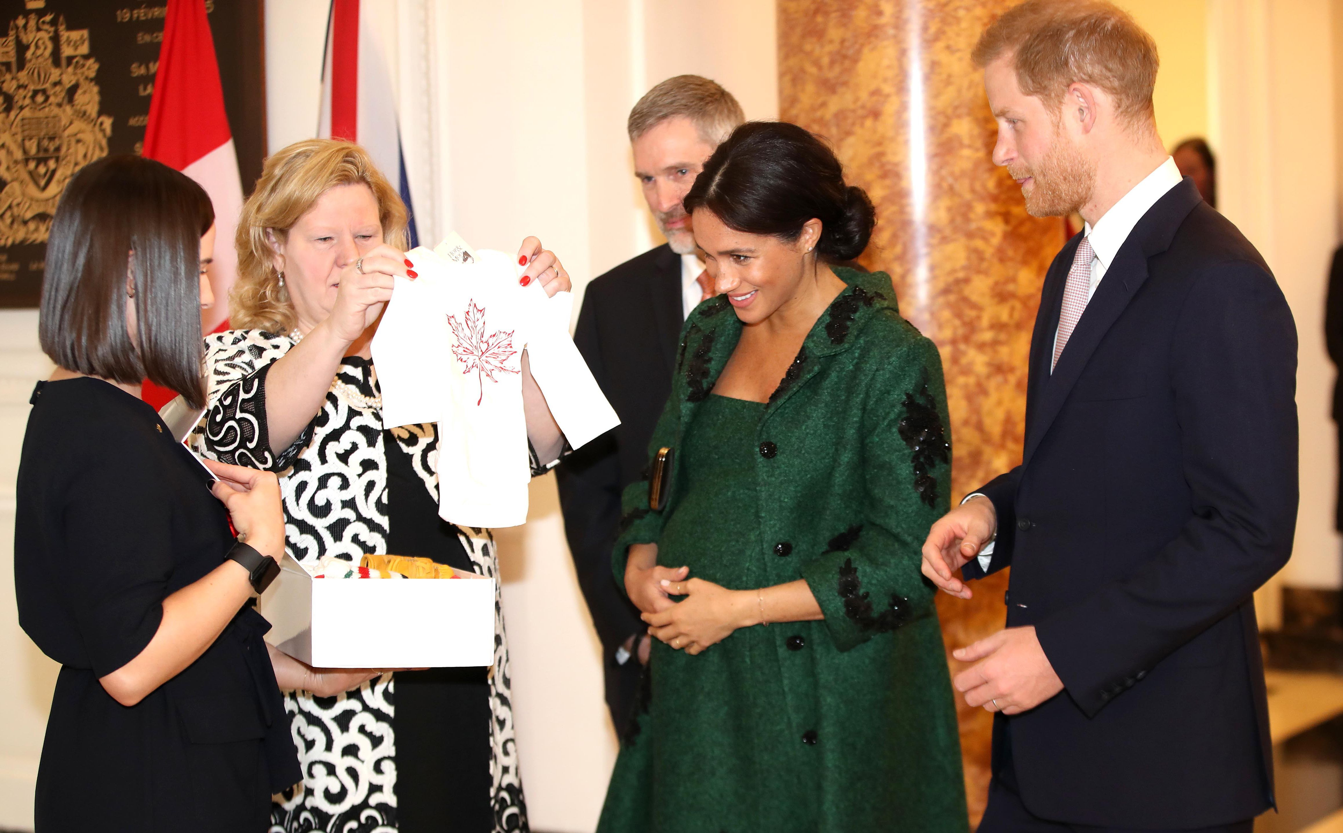 Harry and Meghan received baby gifts from the Canadian High Commissioner on Commonwealth Day in March 2019.