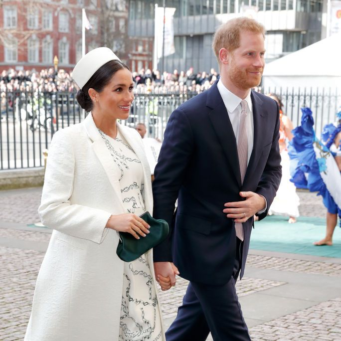 Harry and Meghan at last week's Commonwealth Day service.