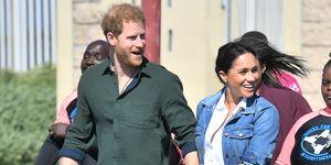 南アフリカツアー中のヘンリー王子とメーガン妃(2019年)