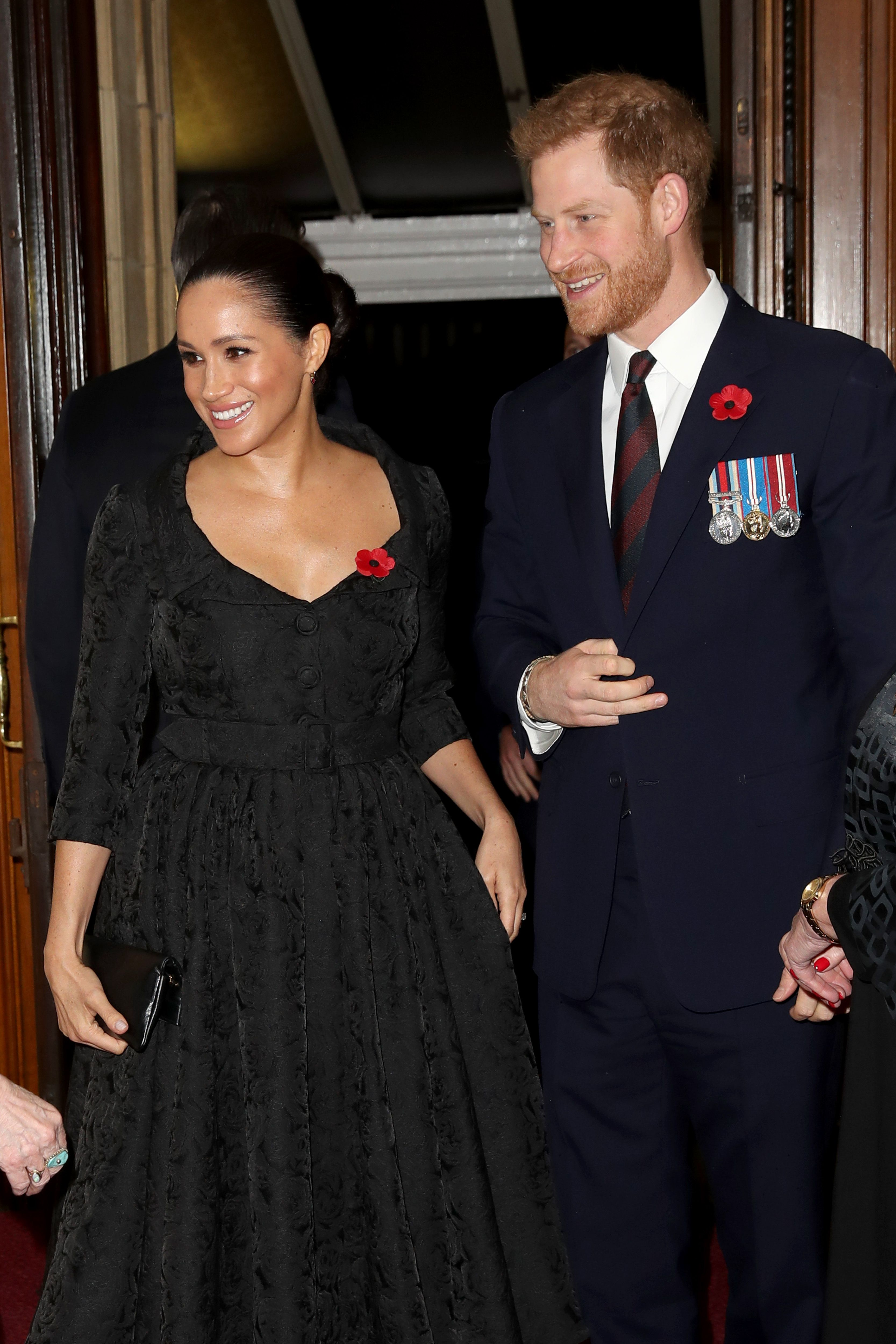 The Duke and Duchess of Sussex reunite with the Duke and Duchess of Cambridge at remembrance service