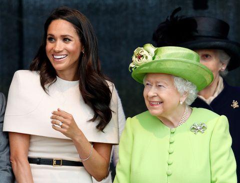 The Duchess Of Sussex and Queen Elizabeth II