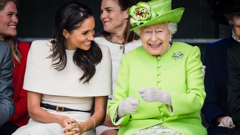 The Duchess Of Sussex Meghan Markle Undertakes Her First Official Engagement With Queen Elizabeth II