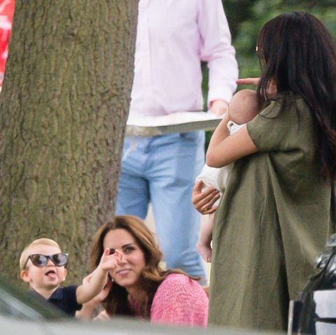 Prince Louis Wears Kate Middleton's Sunglasses at the Polo Match