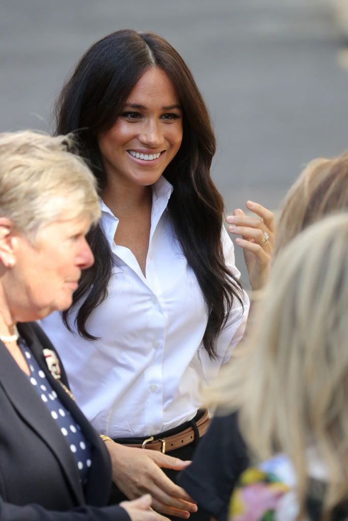 Meghan Markle Returns from Maternity Leave Wearing Her New Smart Works Collection