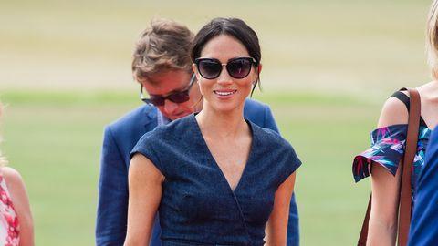 Duchess of Sussex in Carolina Herrera atSentebale Polo 2018