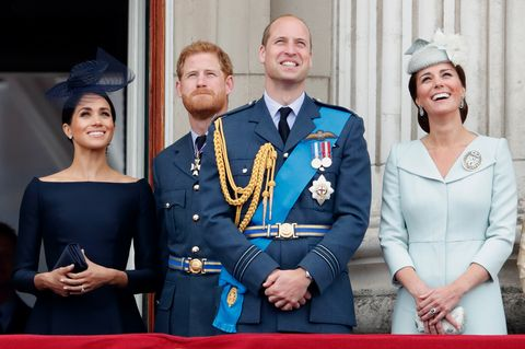 Members Of The Royal Family Attend Events To Mark The Centenary Of The RAF