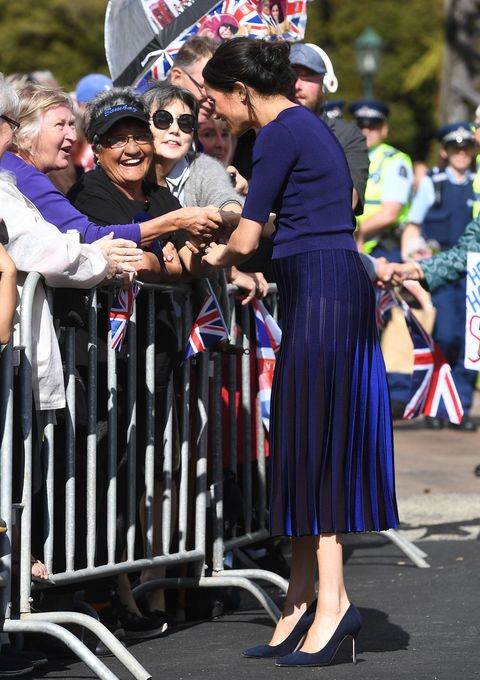 a6dc70a960 Meghan Markle's Royal Tour Wardrobe Malfunction Is Relatable as ...