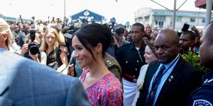 Meghan Markle, Duchess of Sussex, Fiji, markt, veiligheid, onderbroken, royal tour, Prins Harry, Duke