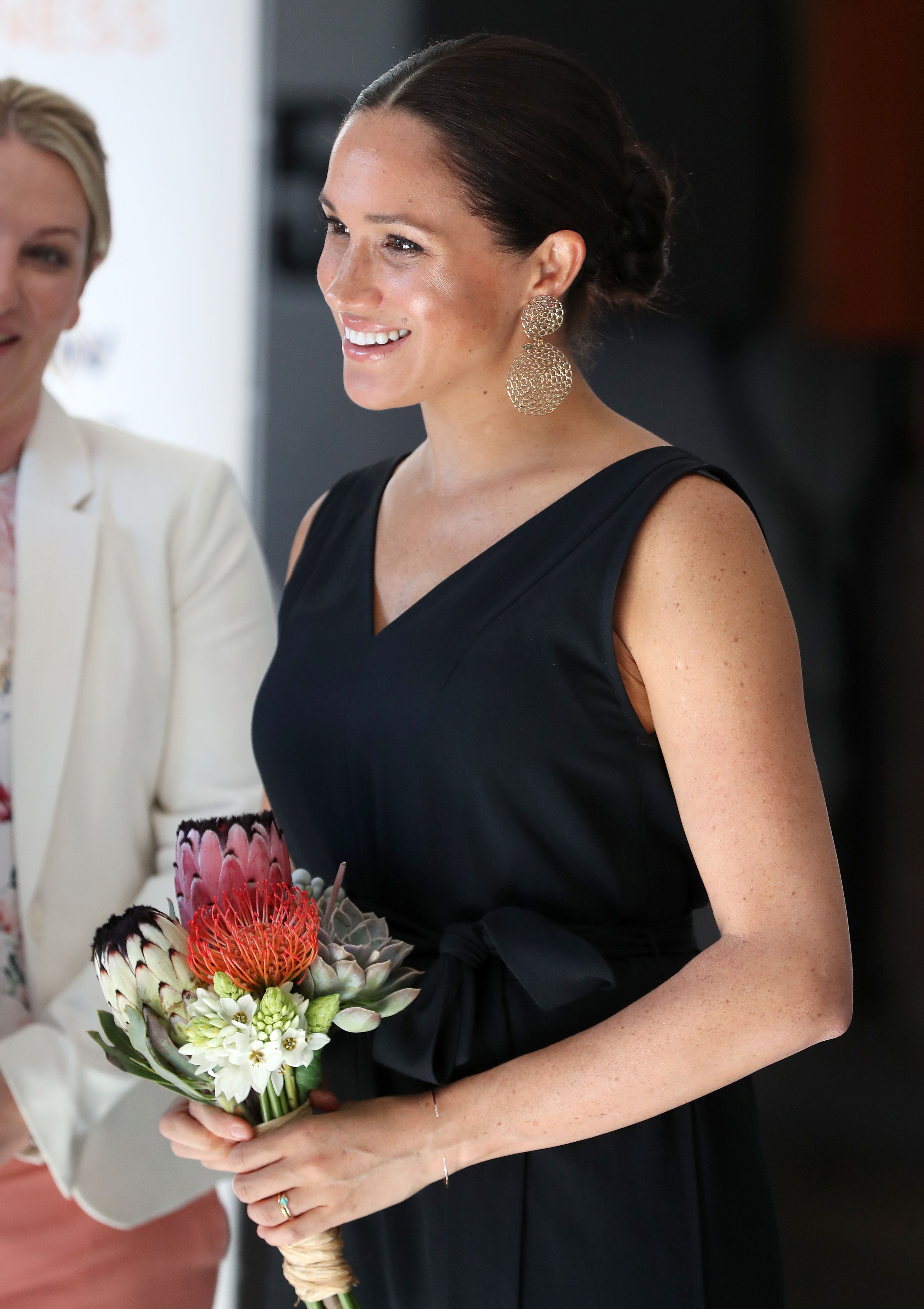Meghan Markle wears an Everlane jumpsuit to visit with female entrepreneurs in South Africa