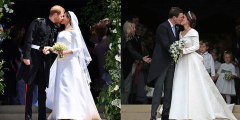 Princess Eugenie Meghan Markle Wedding Comparison