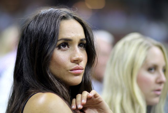 2016 us open   day 10  actress meghan markle watching serena williams of the united states in action against simona halep of romania in the women's singles quarterfinal match on arthur ashe stadium on day ten of the 2016 us open tennis tournament at the usta billie jean king national tennis center on september 7, 2016 in flushing, queens, new york city  photo by tim claytoncorbis via getty images