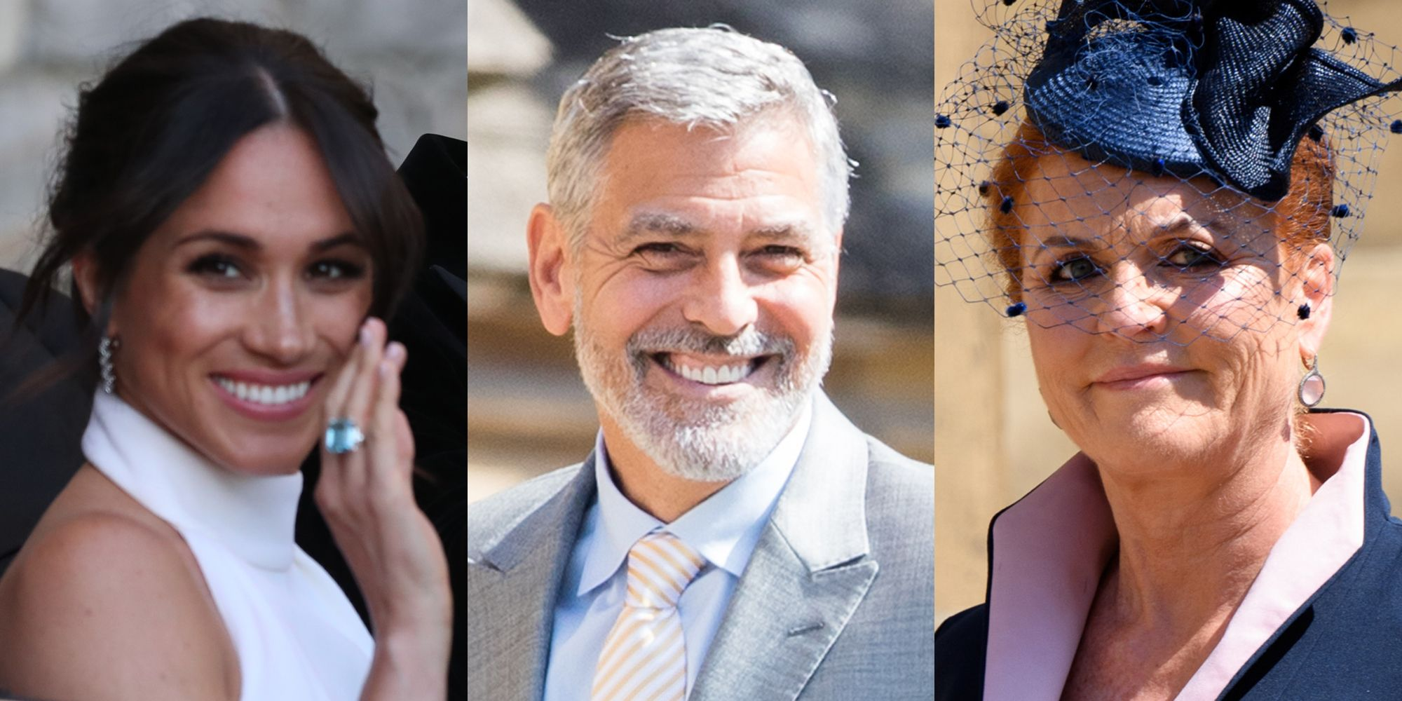 Meghan Markle, George Clooney, and Fergie