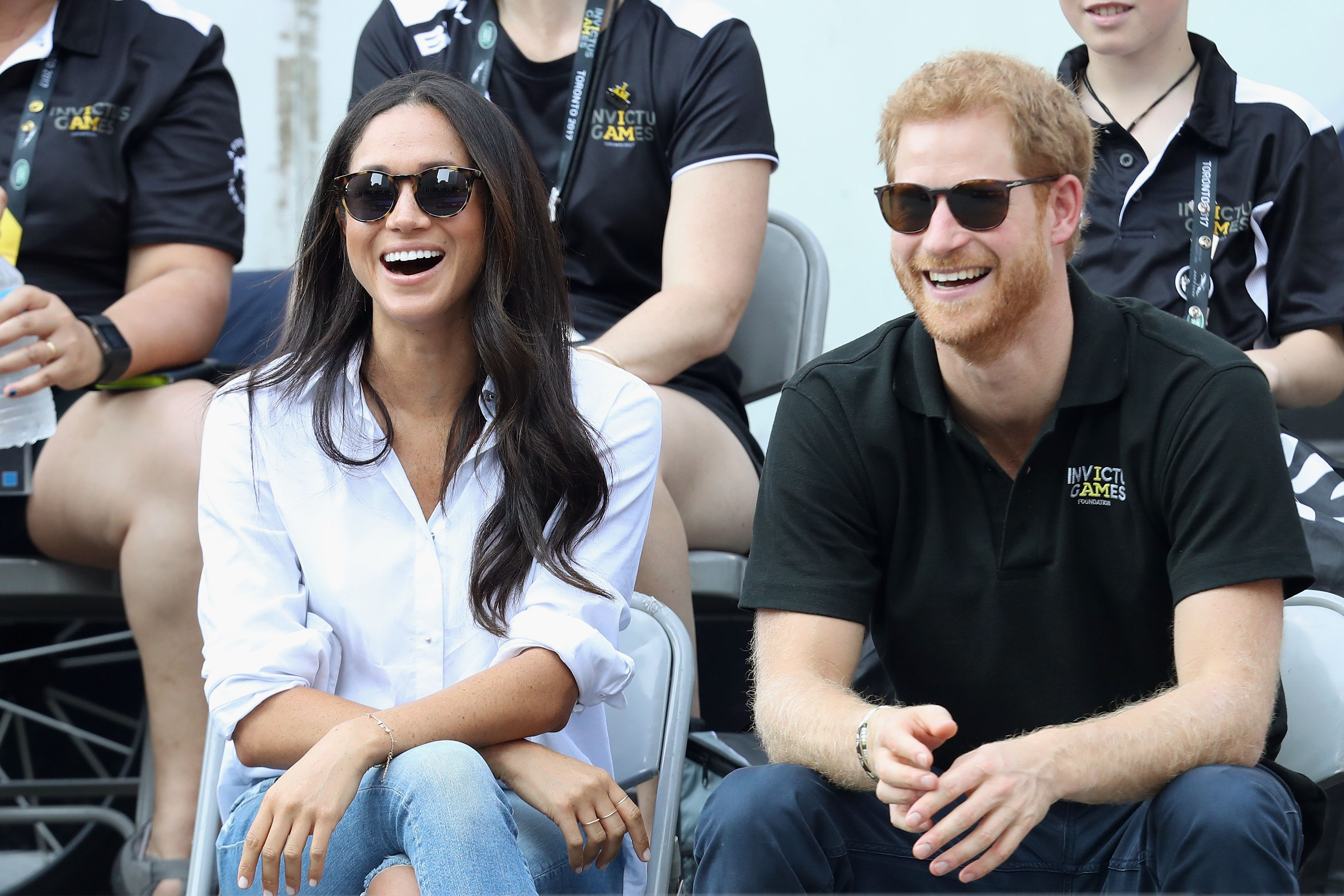 The royal couple Meghan and Harry hang out with most
