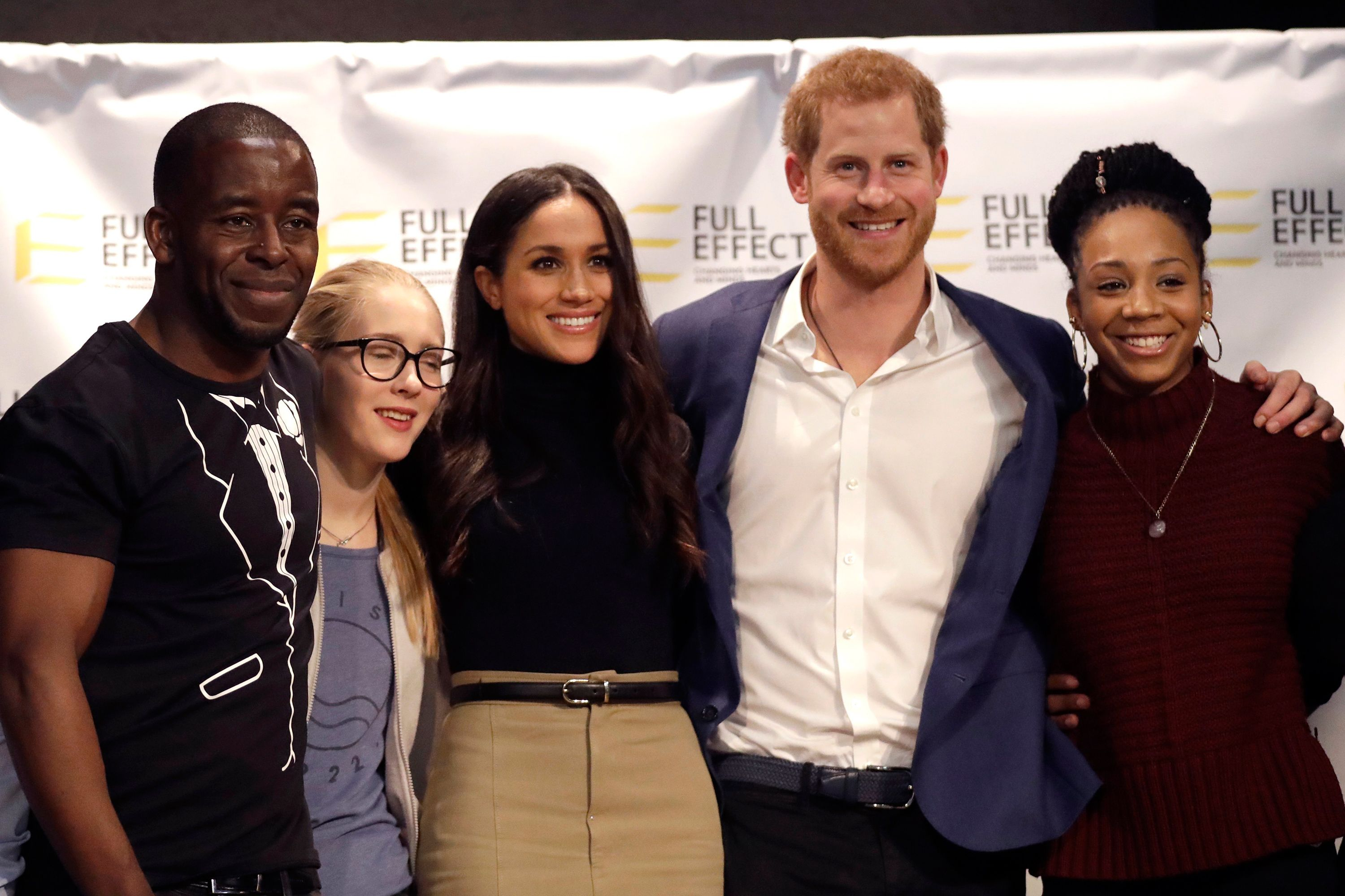 Harry and Meghan at Nottingham Academy