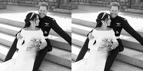 This is what Meghan and Harry were laughing about in their official wedding photo