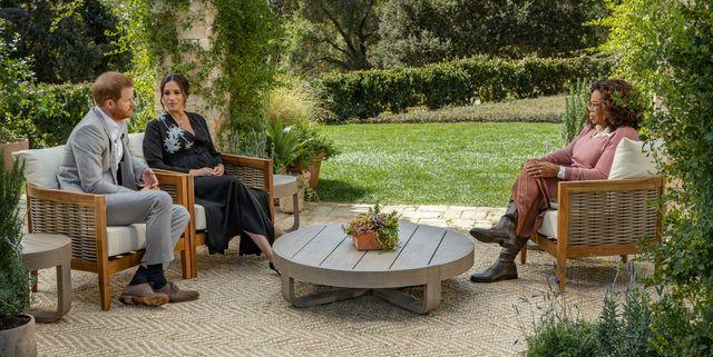 meghan harry oprah interview chairs