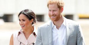 Een beeld van Meghan Markle en prins Harry, die samen met Oprah Winfrey aan een docu-serie gaan werken