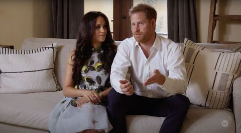 meghan markle and prince harry during spotify event