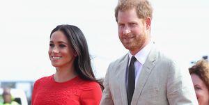 Meghan Markle en prins Harry tijdens hun bezoek aan Tonga in oktober 2018.